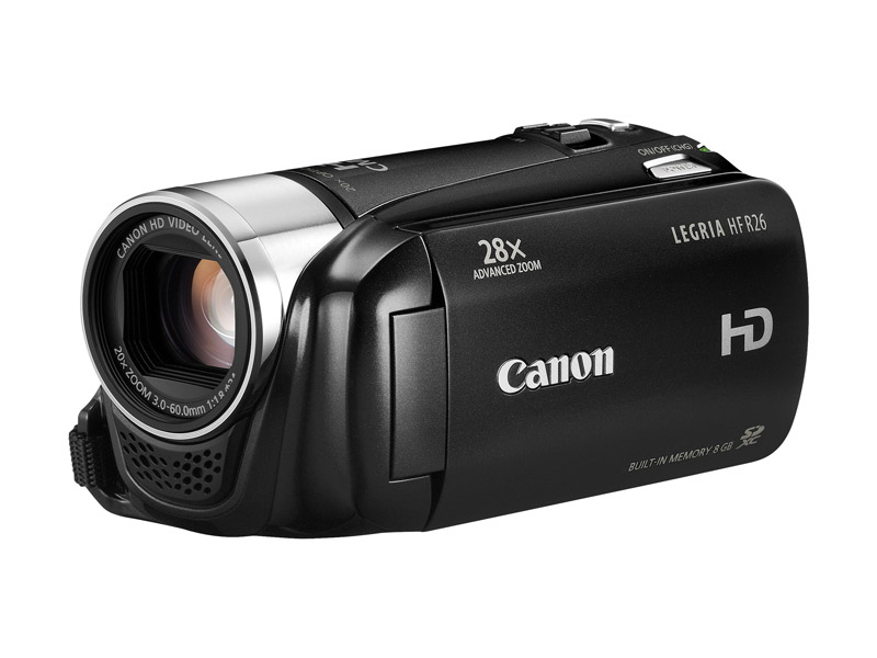 Canon-Full-HD-Camcorder-Legria-HF-R-26-Schwarz-Touch-Display-8GB-Speicher