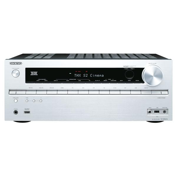 Onkyo-Heimkinoreceiver-TX-NR-616-3D-Faehig-WiFi-HDMI-FUll-HD-silber-NEU
