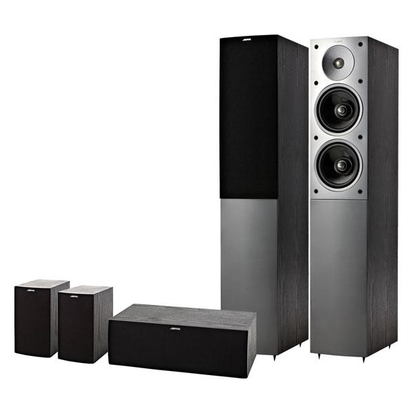 Jamo-5-0-Lautsprecher-Set-Heimkinosystem-S-506-HCS-3-Esche-schwarz-Neu