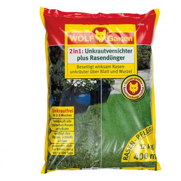 Wolf-Garten-LQ-400-Unkrautvernichter-plus-Rasenduenger-fuer-400m-Raenflaeche-Neu