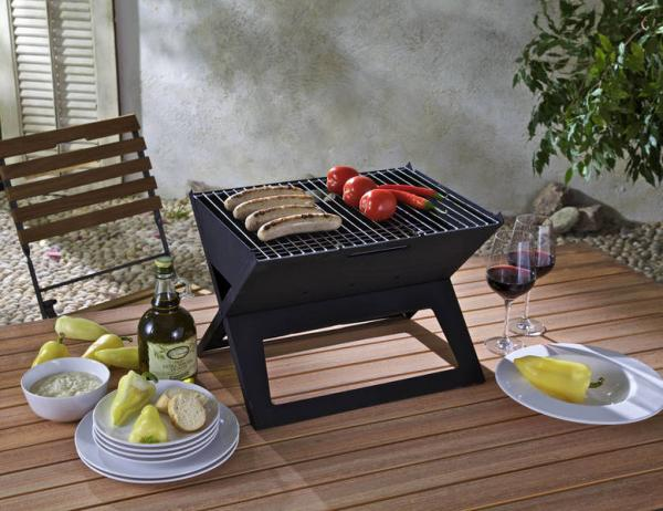 Holzkohle Klappgrill, BBQ Grill