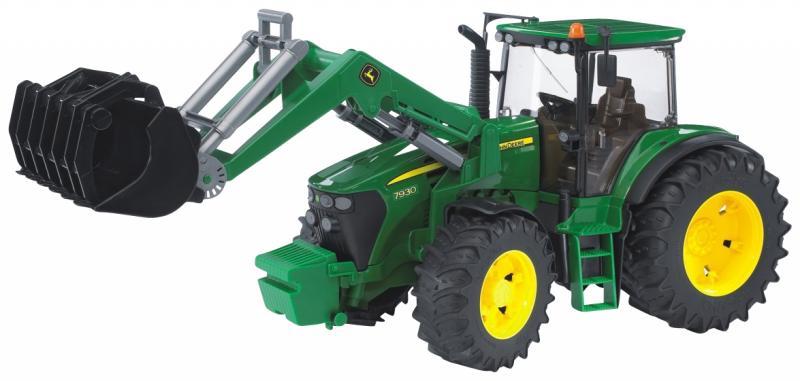 bruder-Traktor-John-Deere-7930-m-Frontlader-Trekker